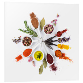 Stampa su schiuma dura  Spices and herbs clock