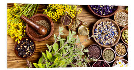 Stampa su schiuma dura  natural medical herbs