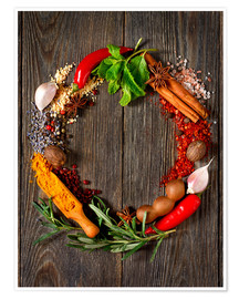 wreath of spices and herbs