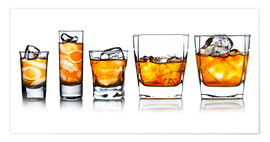 Poster Premium  alcoholic drinks with natural ice