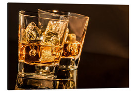 Alluminio Dibond  Whisky glasses