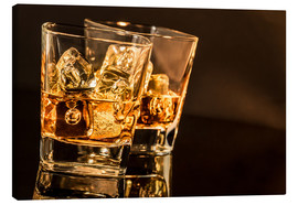 Stampa su tela  Whisky glasses