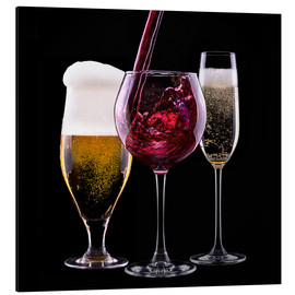 Alluminio Dibond  drinks - beer, wine and champagne