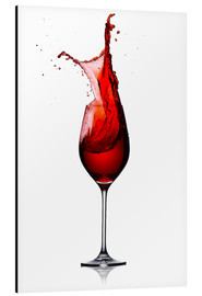 Alluminio Dibond  Red Wine Glass