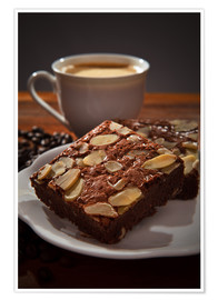brownie and hot coffee
