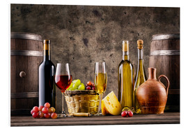 Forex  wine, grapes, barrels and cheese