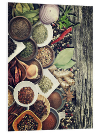 Forex  Spices And Herbs On Rusty Old Wood