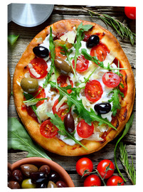 Stampa su tela  Fresh homemade pizza