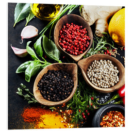 Stampa su schiuma dura  Herbs and spices