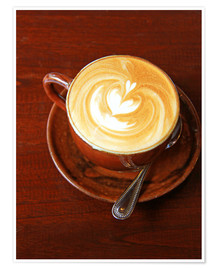 Poster Premium  Cappuccino with heart shape