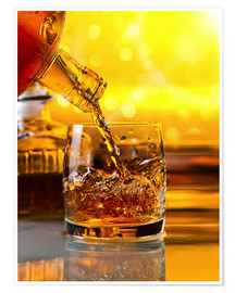 Poster Premium  Whiskey with ice