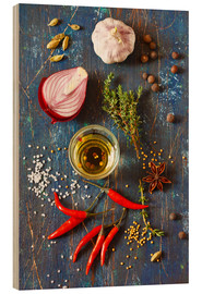 Stampa su legno  Spices and Herbs