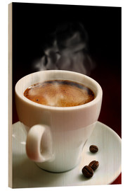 Legno  cup of hot coffee