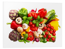 Forex  fresh vegetables and herbs on white