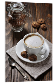 Stampa su schiuma dura  Cup of coffee with cookies
