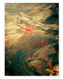Poster Premium  Saint George and the Dragon - Briton Riviere