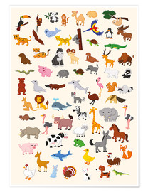 Poster Premium  Mondo animale - Kidz Collection