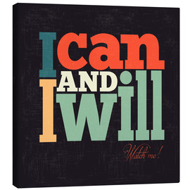 Stampa su tela  I can and i will - Typobox