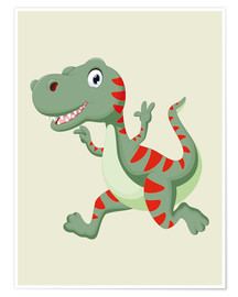 Poster Premium  Dinosauro che ride - Kidz Collection