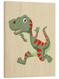 Stampa su legno  Dinosauro che ride - Kidz Collection
