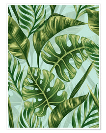 Poster Premium  Monstera Leaves