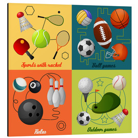 Stampa su alluminio  Do some sports - Kidz Collection