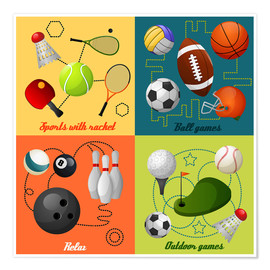 Poster Premium  Do some sports - Kidz Collection