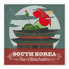 Poster Premium South Korea - Palace