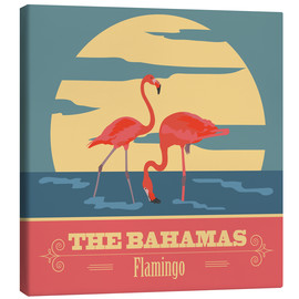 Stampa su tela  The Bahamas - Flamingo