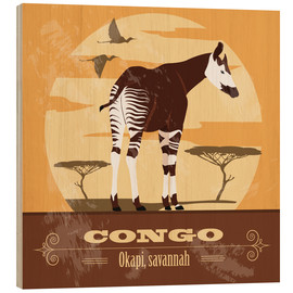 Stampa su legno  Congo - Okapi - Kidz Collection