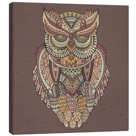 Stampa su tela  Owl - colours of the forest