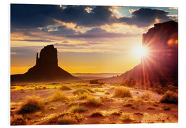 Schiuma dura  Sunset at the sisters in Monument Valley, USA