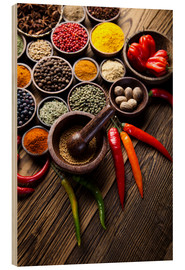 Stampa su legno  Healthy Spice Kitchen