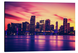 Alluminio Dibond  Miami at sunset, USA