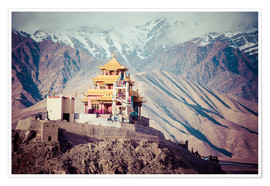 Poster Premium  Monastery in the Himalayas