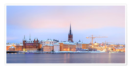 Poster Premium  Panoramic cityscape of Stockholm, Sweden