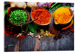 Vetro acrilico  Colorful spices diversity