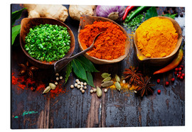 Alluminio Dibond  Colorful spices diversity