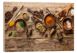 Legno  Spices and kitchen utensils