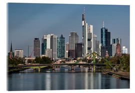 Stampa su vetro acrilico  Skyline Frankfurt am Main Shining Morning - Frankfurt am Main Sehenswert
