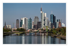 Poster Premium Skyline Frankfurt am Main Shining Morning