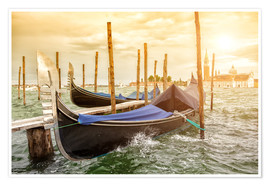 Poster Premium  Gondolas in the wind