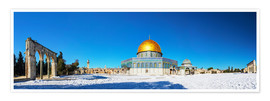 Poster  Dome of the Rock mosque in Jerusalem, Israel