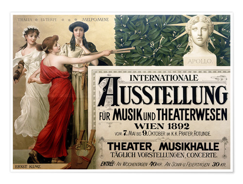 Poster Premium International Exhibition of Music and Drama beings