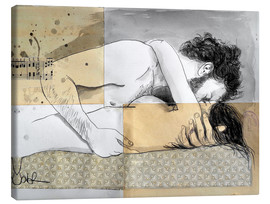 Tela  lovers on a patterned mattress - Loui Jover
