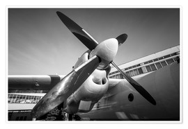 Poster Premium  Engine of a propeller-driven aircraft