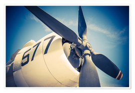 Poster Premium  Propeller of a military plane