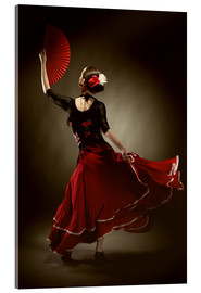 Vetro acrilico  Flamenco dancer