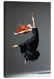 Stampa su tela  Dancer with red hair