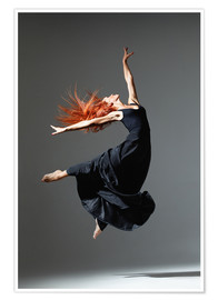Poster  Dancer with red hair